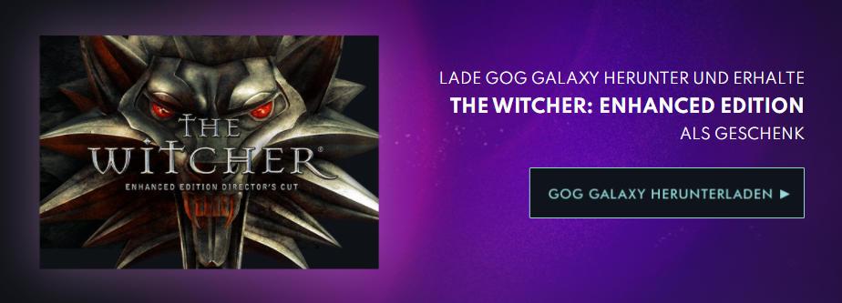 GOG verschenkt The Witcher in der Enhanced Edition plus Goodie Pack - Juli 2021