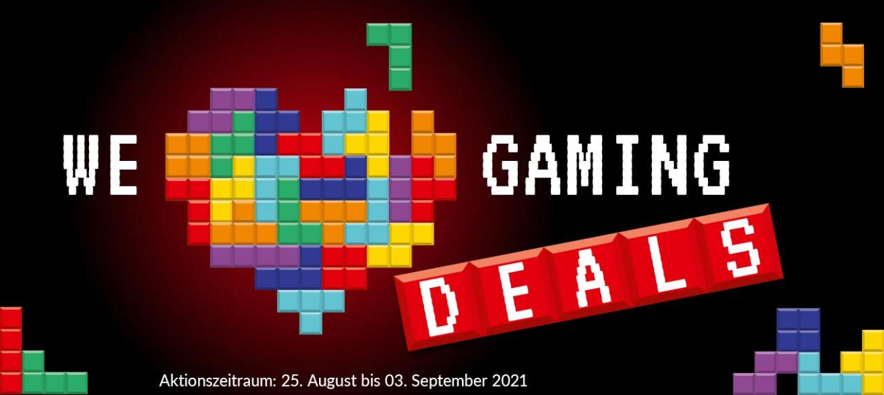 We love Gaming Deals - Gamescom-Aktion 2021 mit Angeboten und Rabatten - Alternate