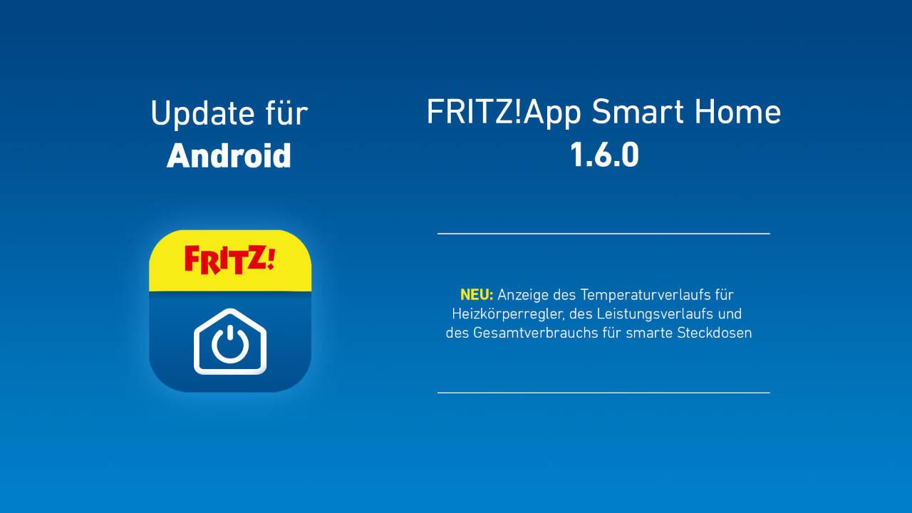 AVM Smart Home App - Energieverbrauch und Temperaturverlauf in der App
