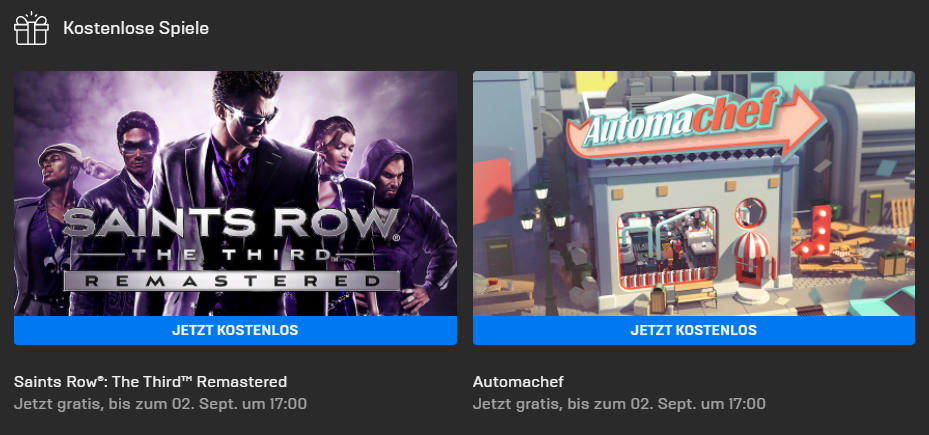 Saints Row: The Third Remastered und Automachef kostenlos bis 02. September - Epic Games Store - Vollversion