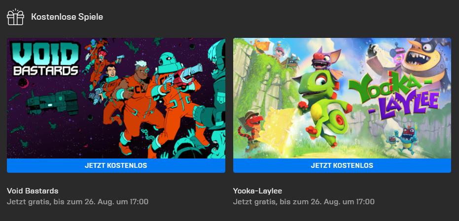 Void Bastards und Yooka-Laylee kostenlos bis 26. August - Epic Games Store - Vollversion