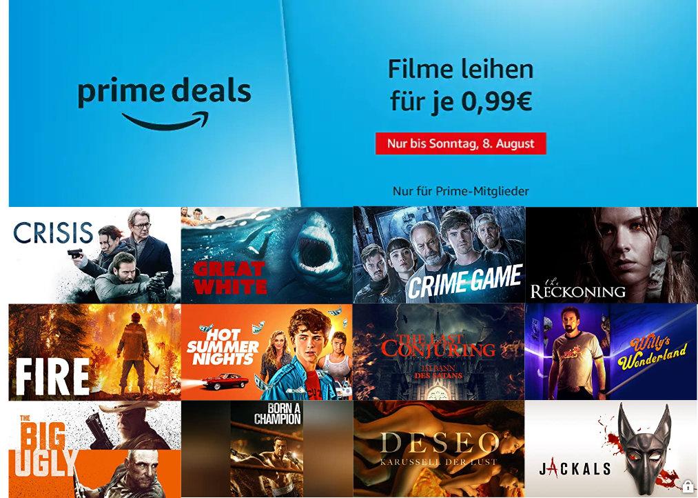 Über 40 Filme für je 99 Cent ausleihen - August bei amazon.de - Heimkino Schnäppchen