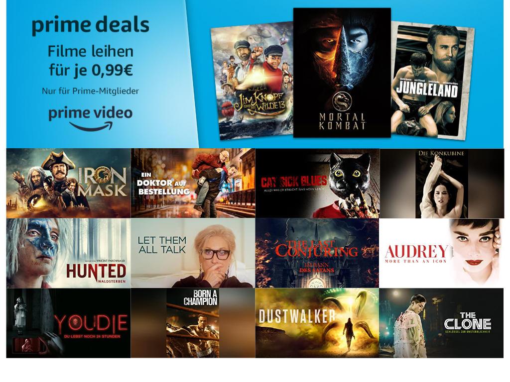 Über 40 Filme für je 99 Cent ausleihen - September bei amazon.de - Heimkino Schnäppchen