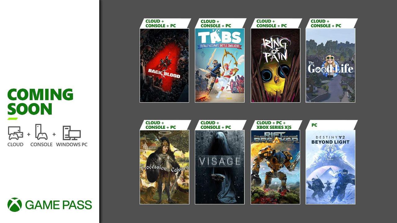 Xbox Game Pass - Neuzugänge Oktober 2021 Teil 1 - Konsole, PC, Cloud